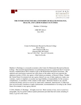 The Interconnected Relationships of Health Insurance, Health, and Labor Market Outcomes