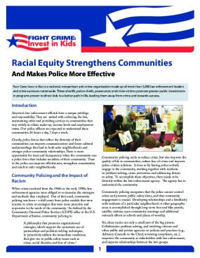 Racial Equity Strengthens Communities And Makes Police More Effective