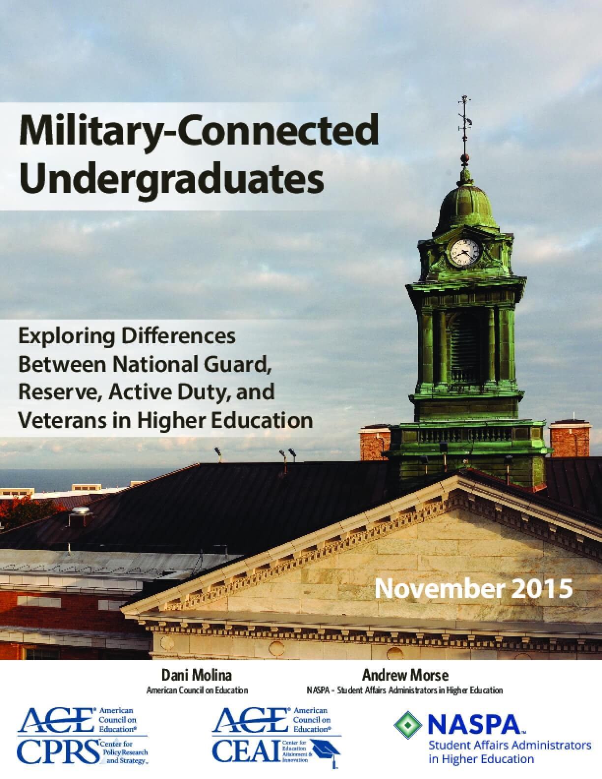 Military-Connected Undergraduates: Exploring Differences Between National Guard, Reserve, Active Duty, and Veterans in Higher Education