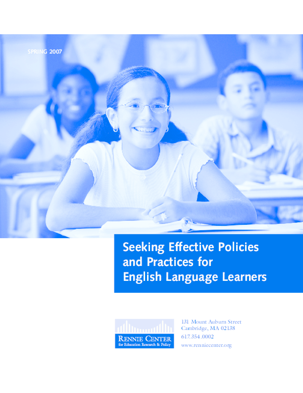 Seeking Effective Policies and Practices for English Language Learners