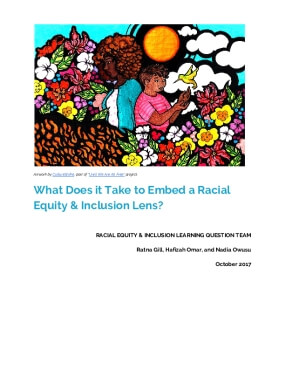What Does it Take to Embed a Racial Equity & Inclusion Lens?