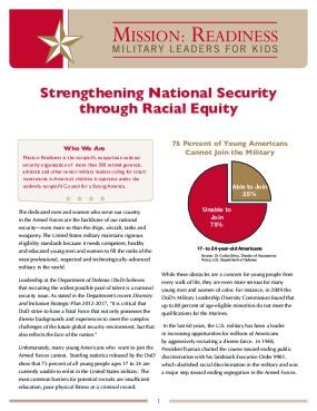 Strengthening National Security through Racial Equity
