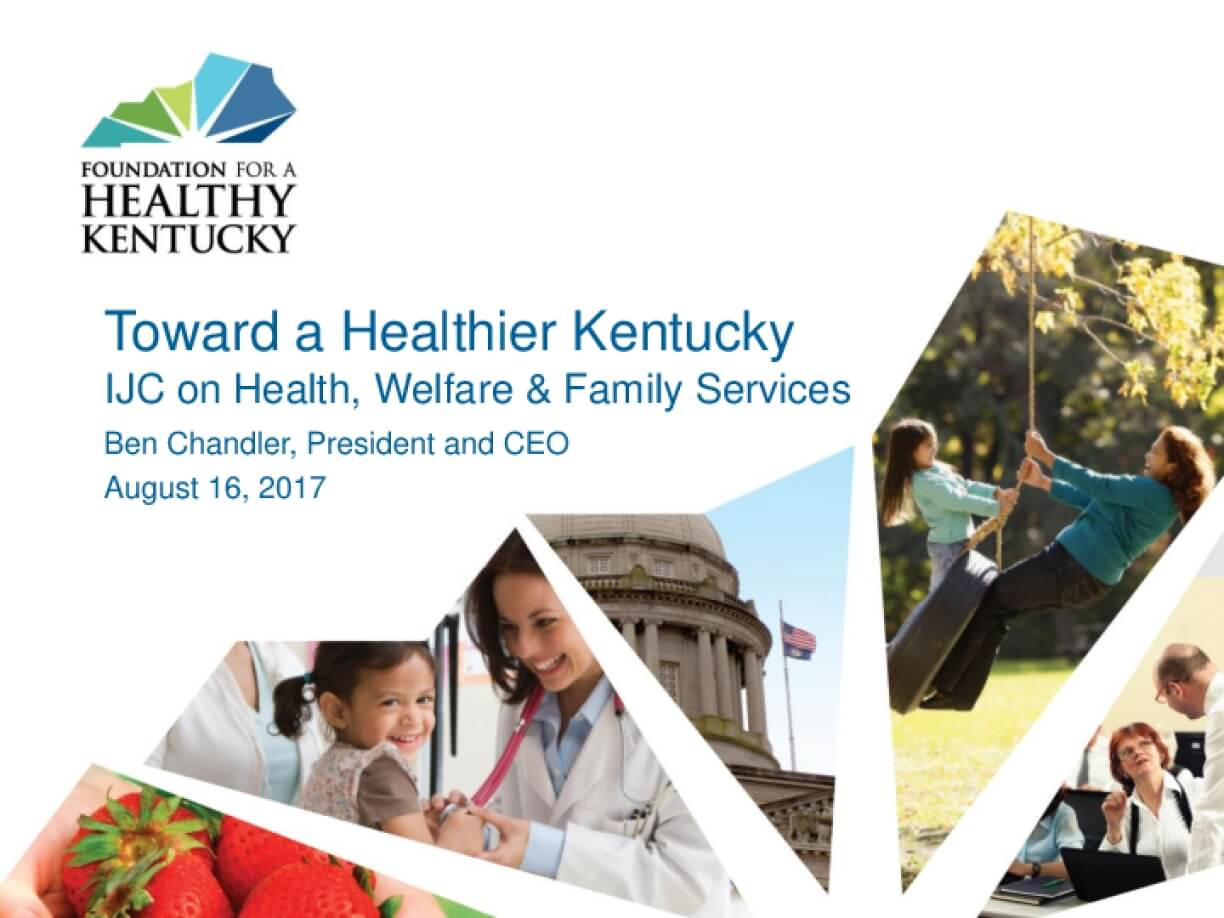 Toward a Healthier Kentucky: IJC on Health, Welfare & Family Services