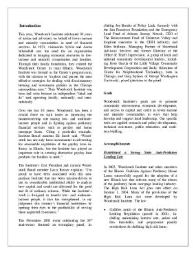 Woodstock Institute 2003 Annual Report