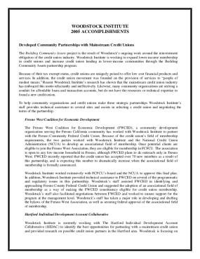 Woodstock Institute 2005 Annual Report
