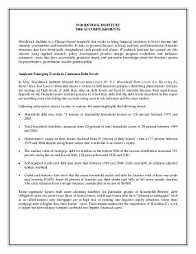 Woodstock Institute 2006 Annual Report