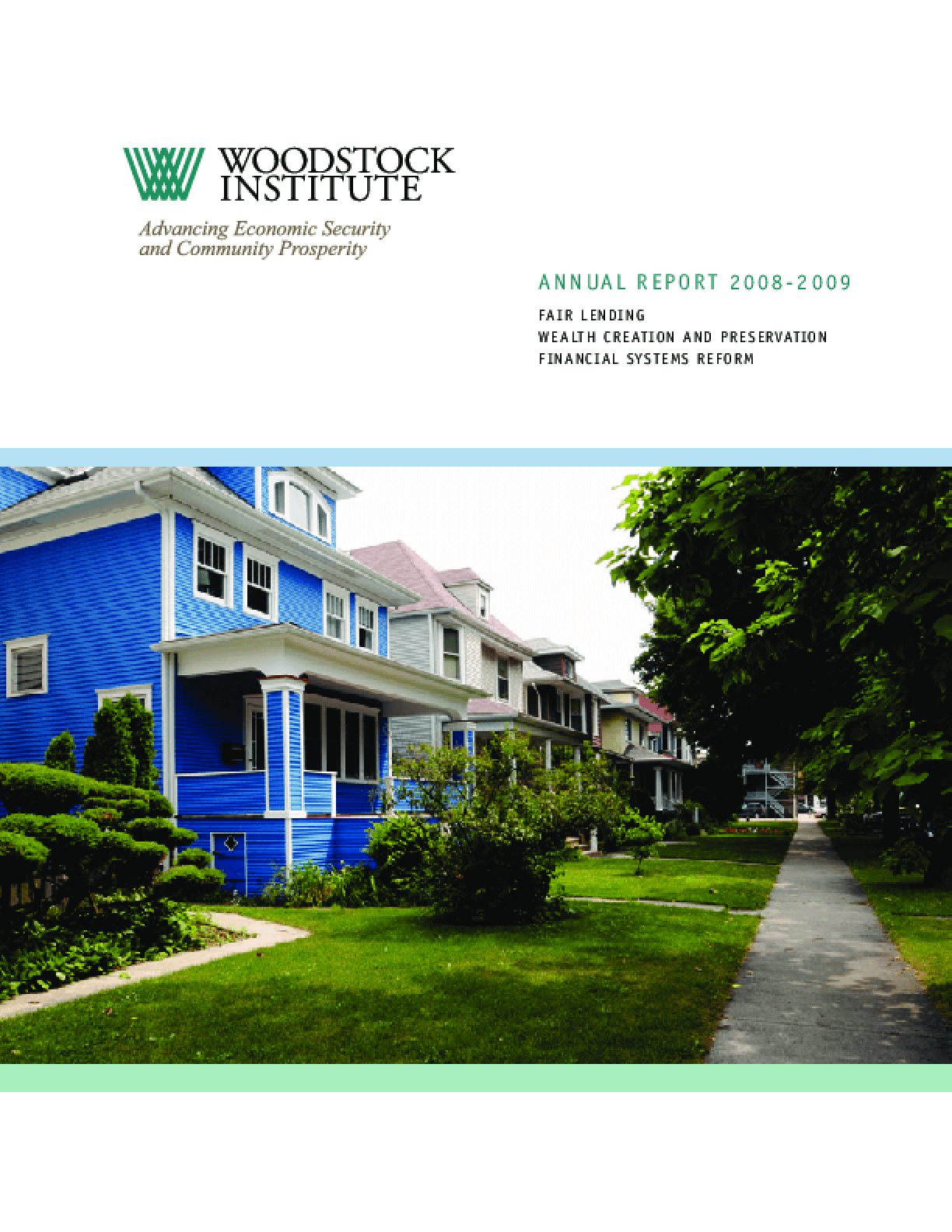 Woodstock Institute 2008-2009 Annual Report
