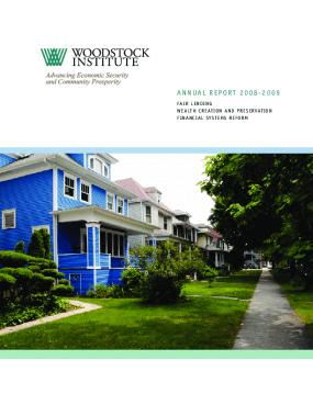 Woodstock Institute 2008-2009 Annual Report