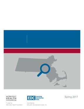 Highlights from the MetroWest Adolescent Health Survey: 2016 MetroWest Region High School Report