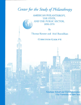 American Philanthropy, the State, and the Public Sector, 1890-1970