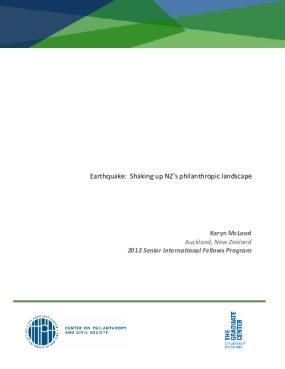 Earthquake: Shaking up NZ's Philanthropic Landscape