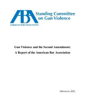 Gun Violence and the Second Amendment: A Report of the American Bar Association