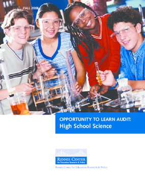 Opportunity to Learn Audit: High School Science