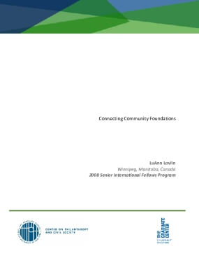 Connecting Community Foundations