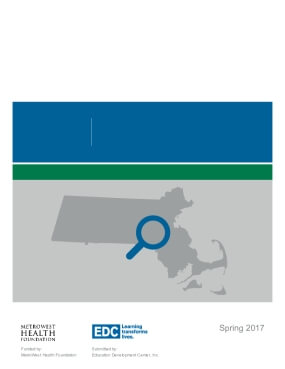 Highlights from the MetroWest Adolescent Health Survey: 2016 MetroWest Region Middle School Report