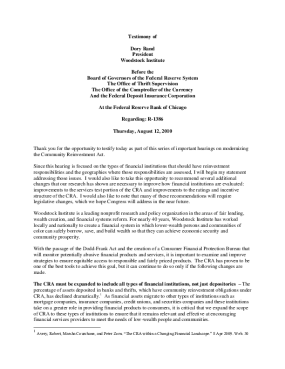 Testimony of Dory Rand before the Federal Reserve Board, the OCC, the OTS, and the FDIC on the need to modernize the Community Reinvestment Act