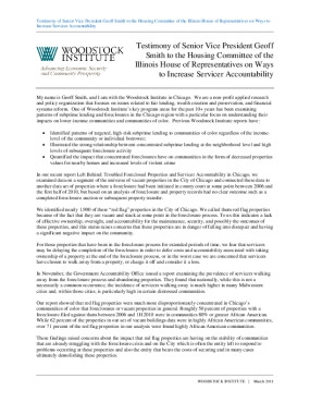Testimony of Senior Vice President Geoff Smith to the Housing Committee of the Illinois House of Representatives on Ways to Increase Servicer Accountability