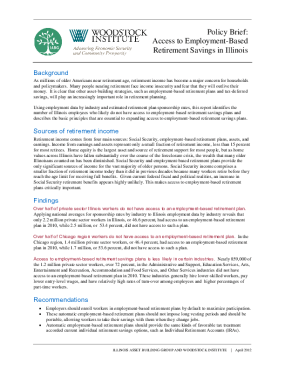 Policy Brief: Access to Employment-Based Retirement Savings in Illinois
