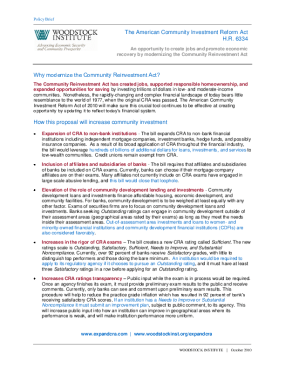 Policy Brief: Expand CRA through the American Community Investment Reform Act (H.R. 6334)