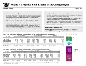 Refund Anticipation Loan Lending in the Chicago Region