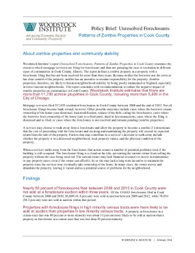 Policy Brief: Unresolved Foreclosures Patterns of Zombie Properties in Cook County