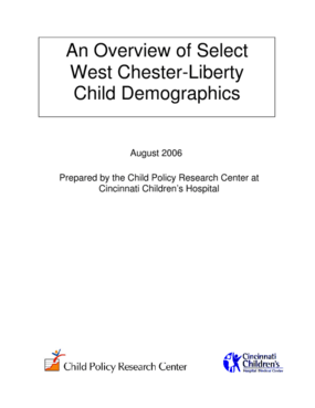 An Overview of Select West Chester-Liberty Child Demographics