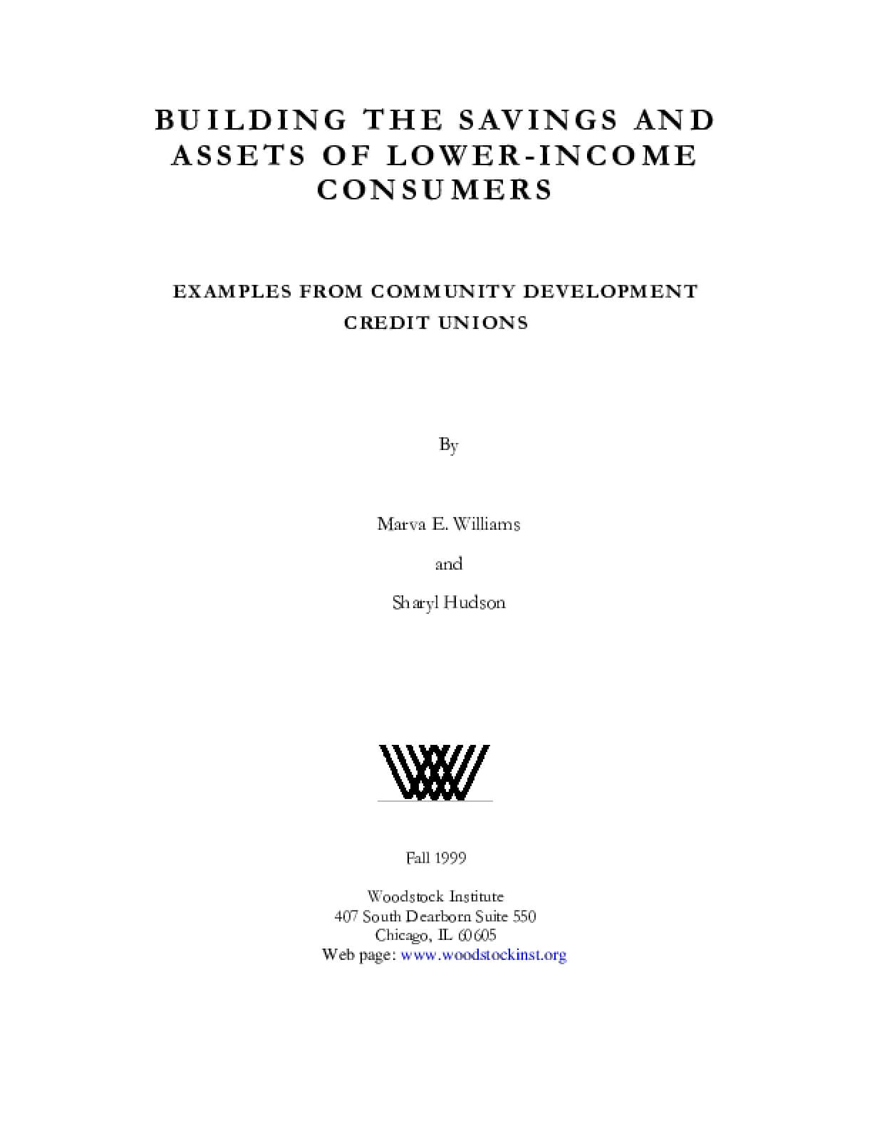 Building the Savings and Assets of Lower-Income Consumers