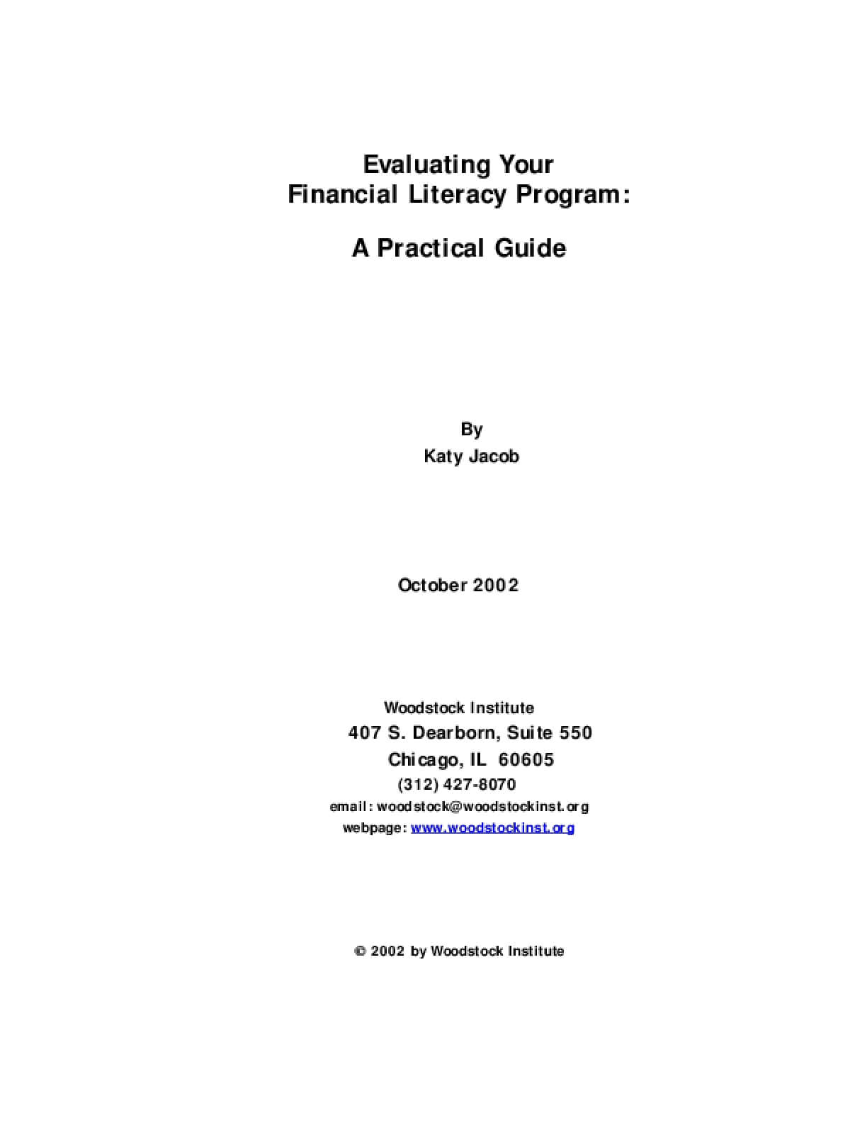 Evaluating Your Financial Literacy Program: A Practical Guide