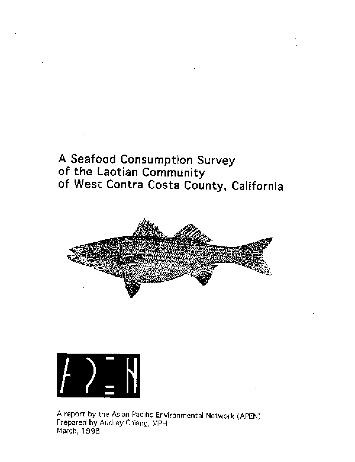 A Seafood Consumption Survey of the Laotian Community of West Contra Costa County, California