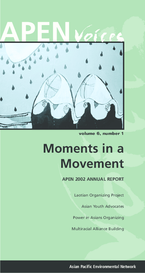 Moments in a Movement: APEN 2002 Annual Report