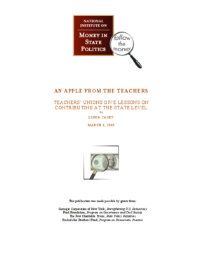 An Apple From the Teachers: Teachers' Unions Give Lessons on Contributing at the State Level