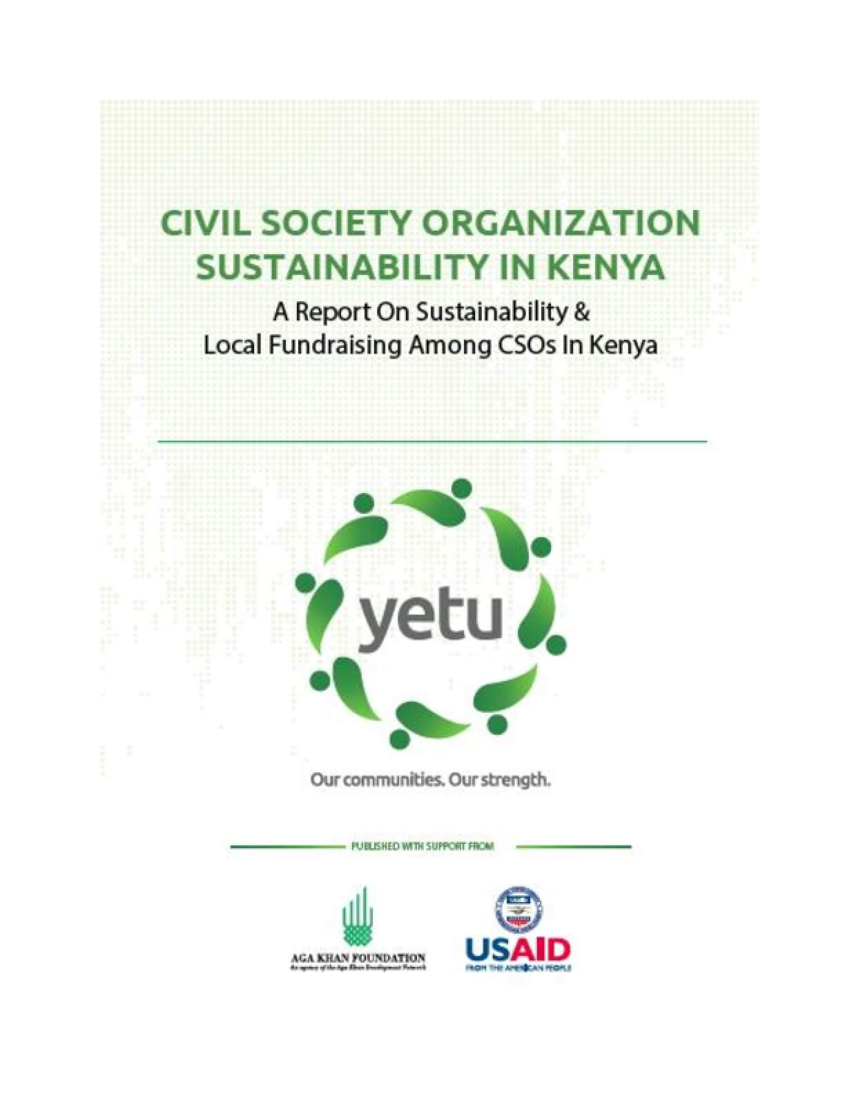Civil Society Organization Sustainability in Kenya