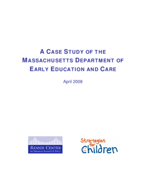 A Case Study of the Massachusetts Department of Early Education and Care - Full Report