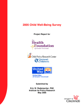 Child Well Being Survey 2005