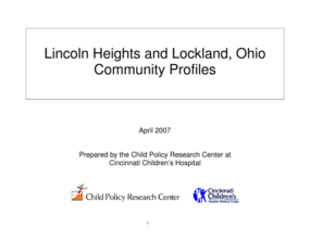 Lincoln Heights and Lockland, Ohio Community Profiles