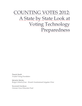 Counting Votes 2012: A State by State Look at Election Preparedness