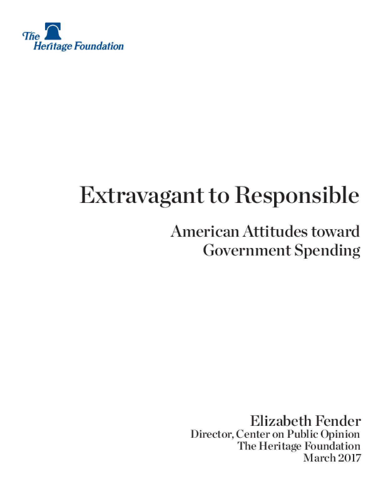 Extravagant to Responsible: American Attitudes towards Government Spending