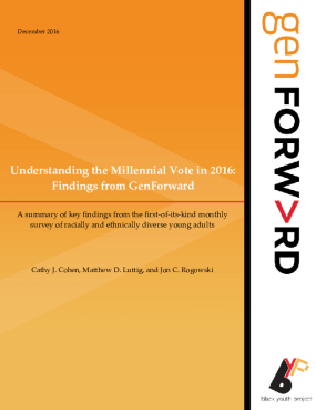 Understanding the Millennial Vote in 2016: Findings from GenForward