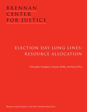 Election Day Long Lines: Resource Allocation