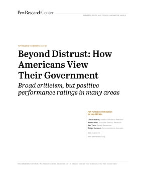 Beyond Distrust: How Americans View their Government
