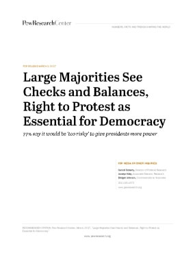 Large Majorities See Checks and Balances, Right to Protest as Essential for Democracy