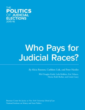 Who Pays for Judicial Races?