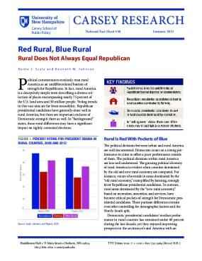 Red Rural, Blue Rural Fact Sheet
