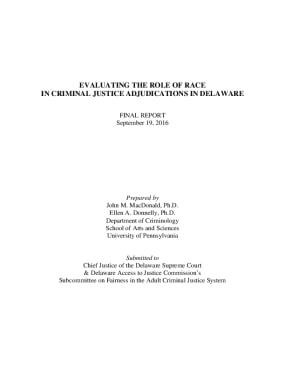 Evaluating the Role of Race in Criminal Justice Adjudications in Delaware