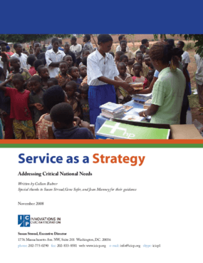 Service as a Strategy for Addressing Critical National Needs