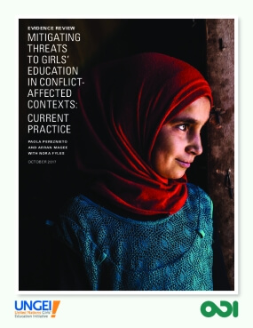 Mitigating Threats to Girls' Education in Conflict Affected Contexts: Current Practice