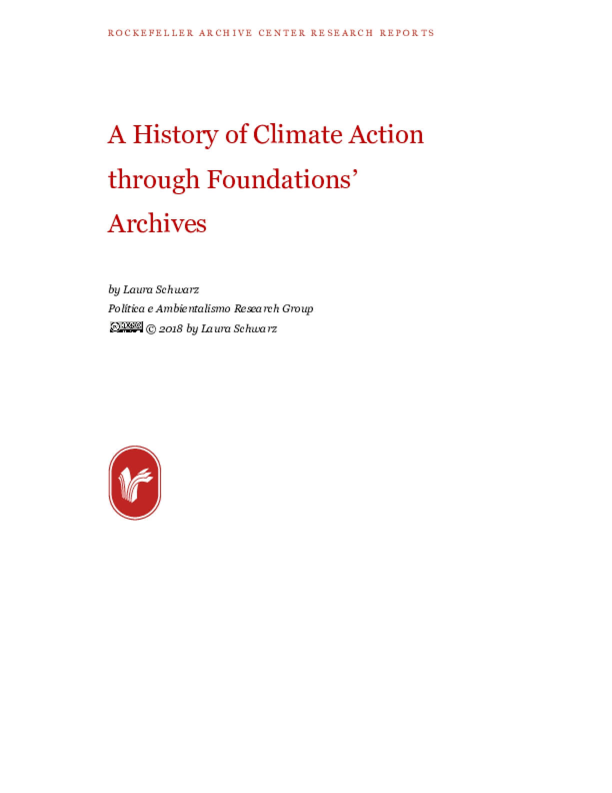 A History of Climate Action through Foundations' Archives