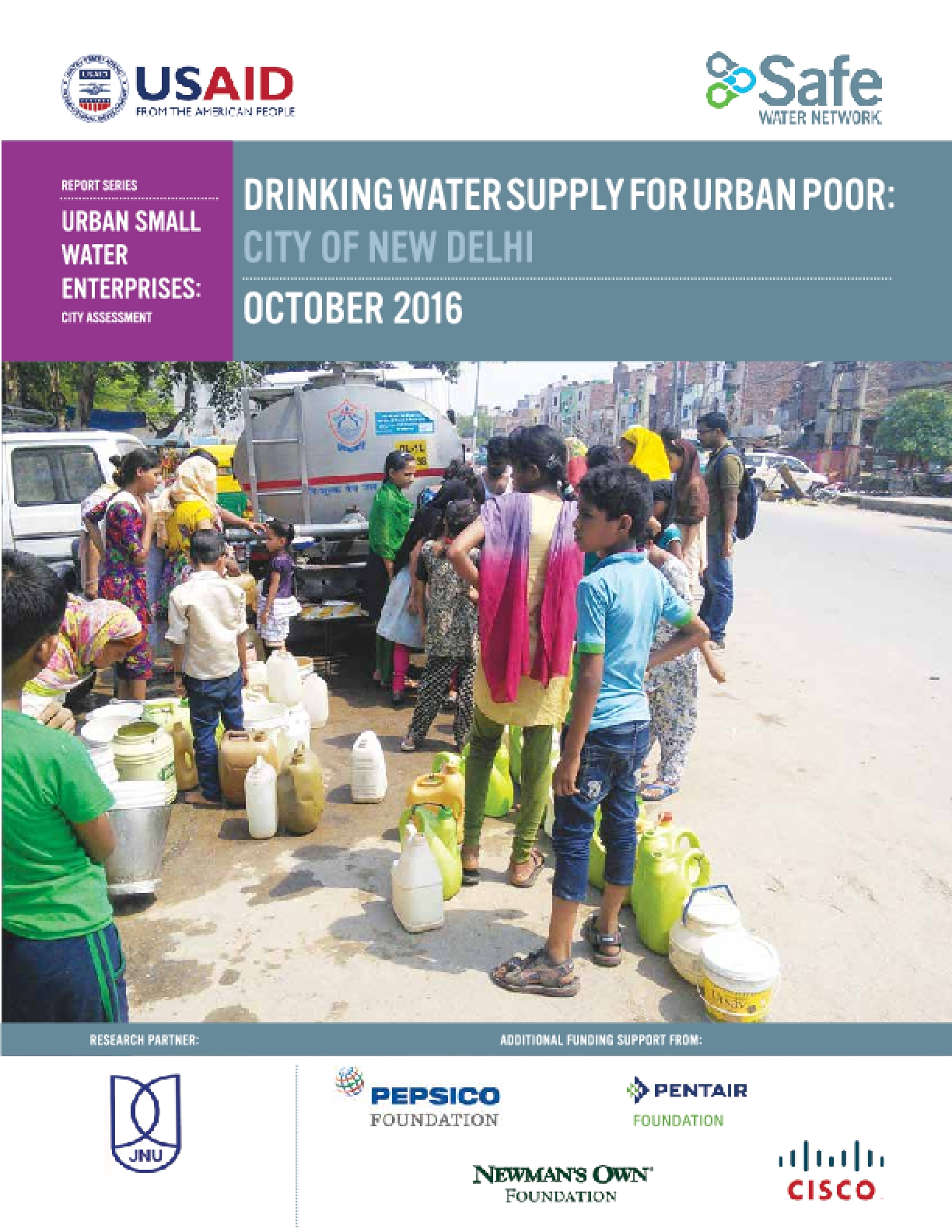 Drinking Water Supply For Urban Poor: City of New Delhi