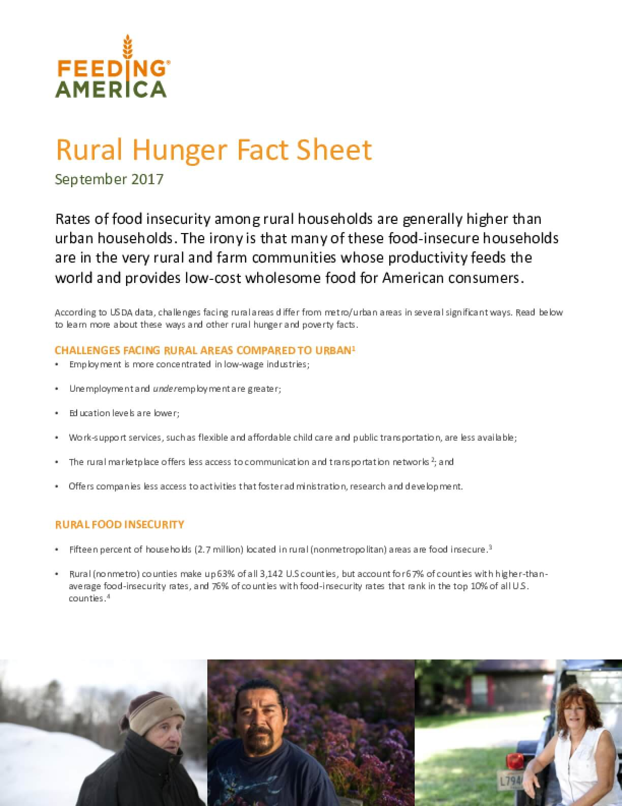 Rural Hunger Fact Sheet