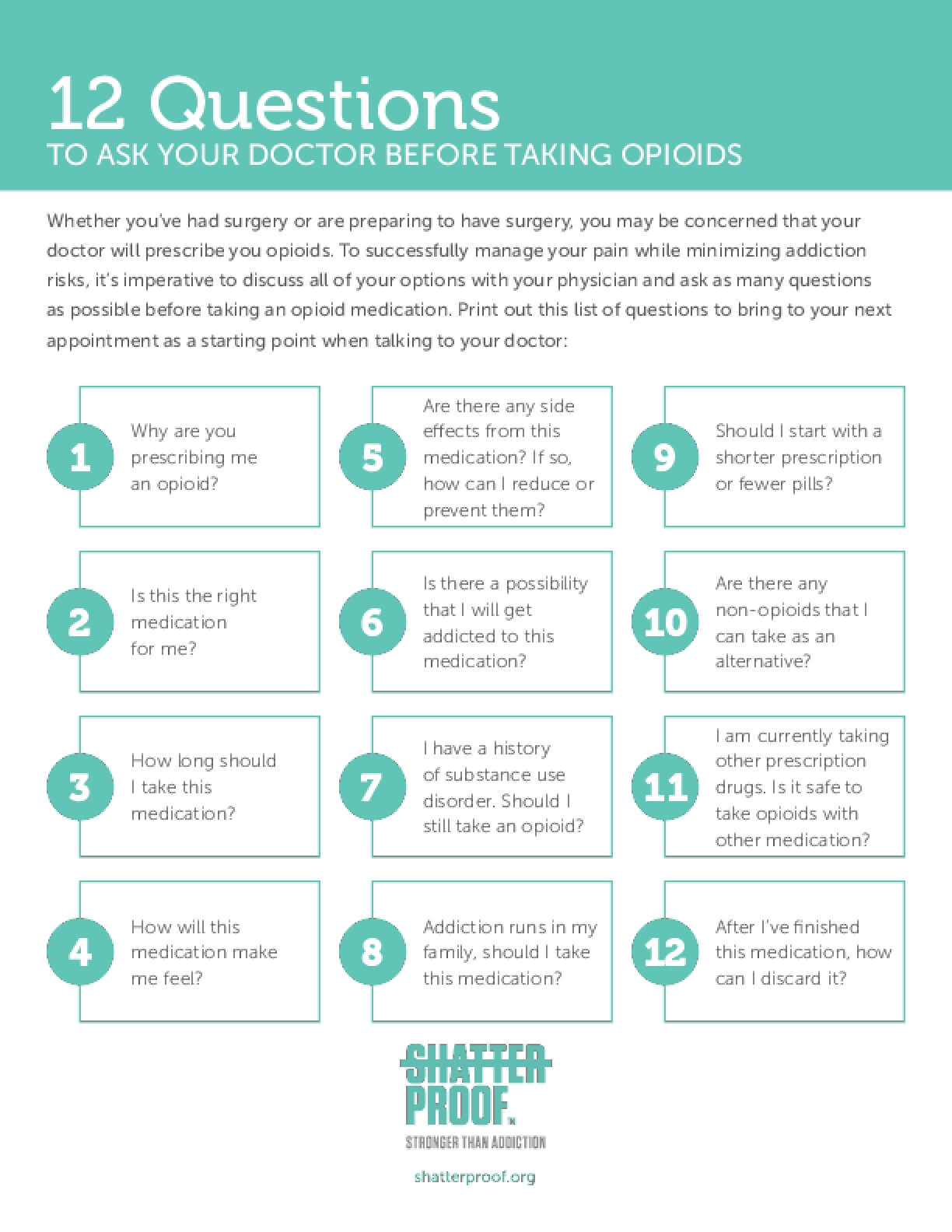 12 Questions to Ask Your Doctor Before Taking Opioids